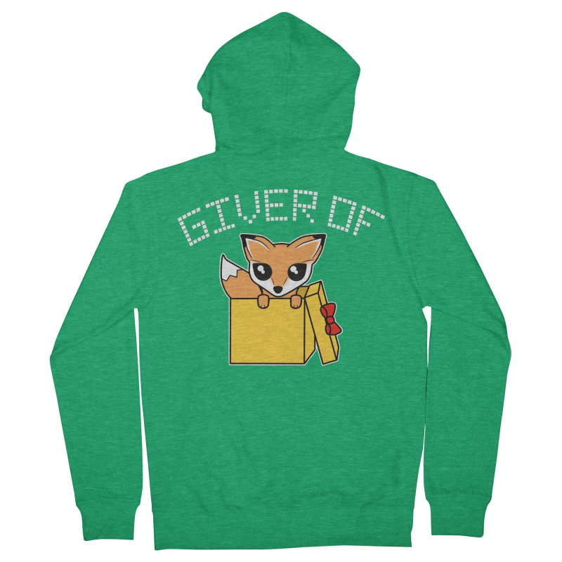 Giver of Fox Women's Zip-Up Hoody by Power Thru the 4th Whistle Roller Derby Podcast