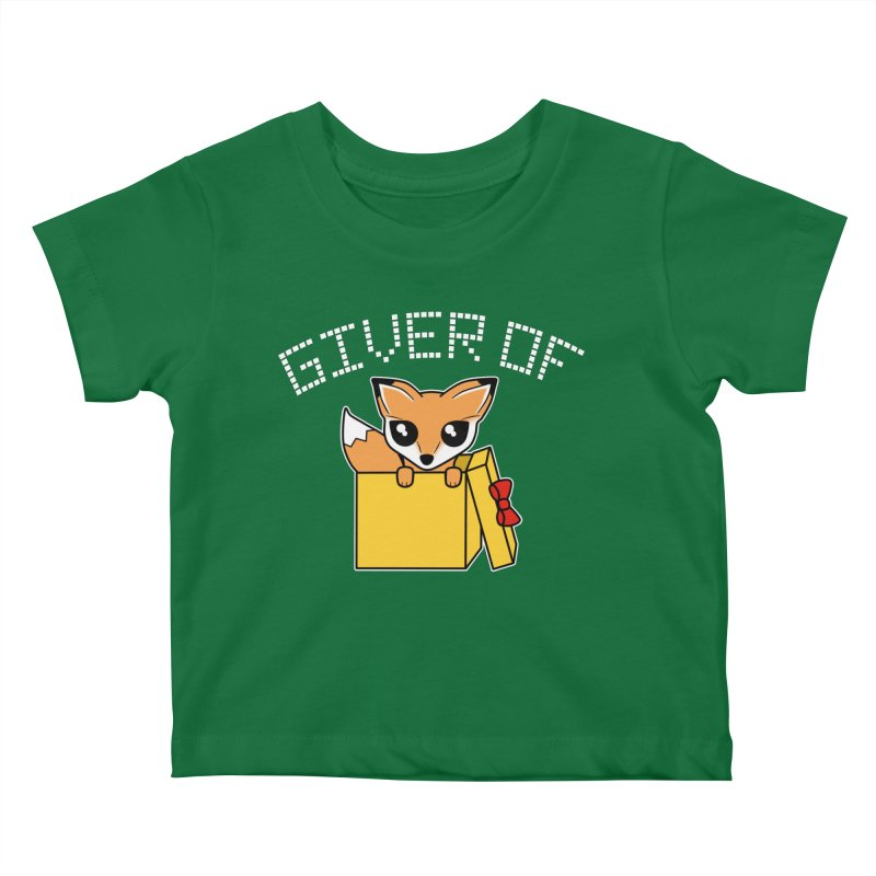 Giver of Fox Kids Baby T-Shirt by Power Thru the 4th Whistle Roller Derby Podcast