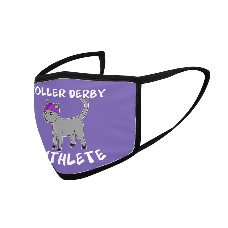 Roller Derby Cathlete Accessories Face Mask by Power Thru the 4th Whistle Roller Derby Podcast