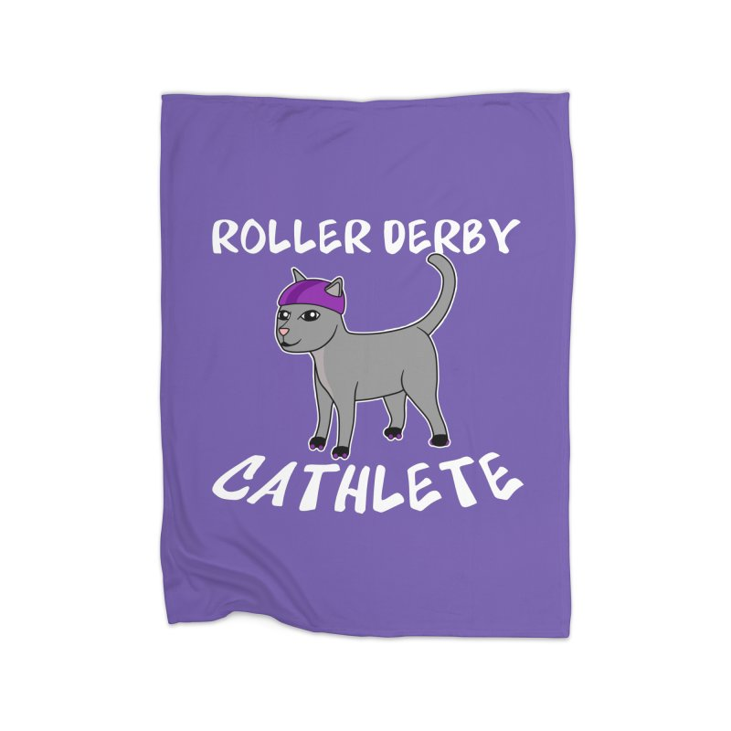 Roller Derby Cathlete Home Blanket by Power Thru the 4th Whistle Roller Derby Podcast