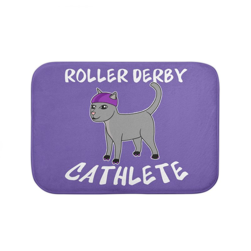 Roller Derby Cathlete Home Bath Mat by Power Thru the 4th Whistle Roller Derby Podcast