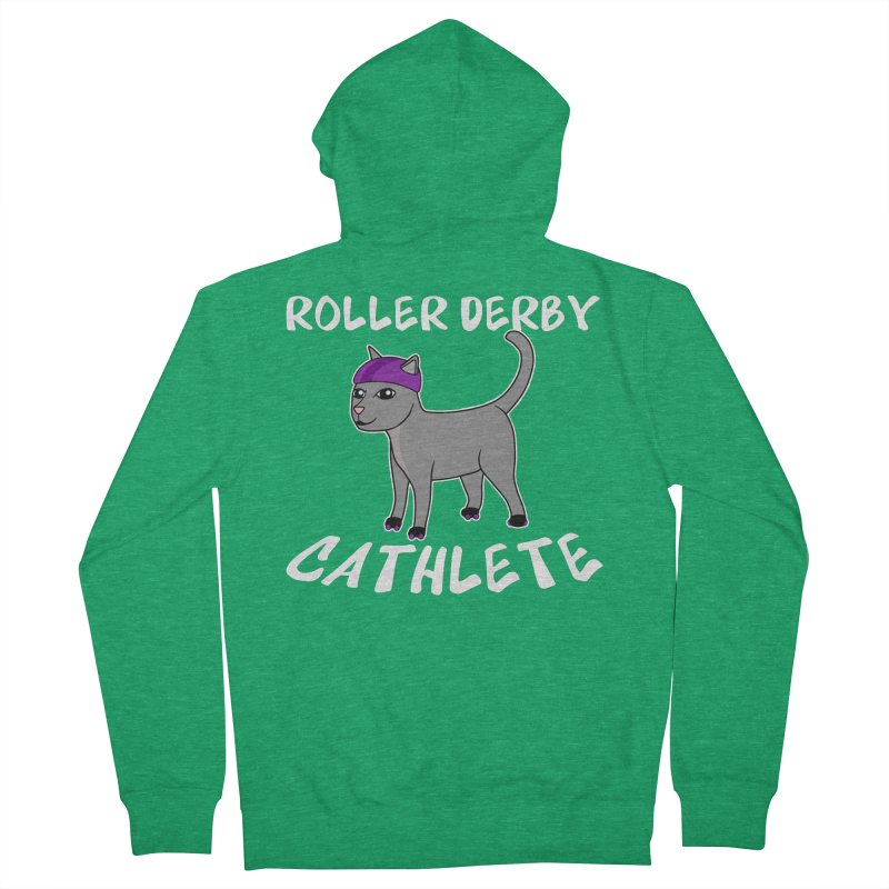 Roller Derby Cathlete Men's Zip-Up Hoody by Power Thru the 4th Whistle Roller Derby Podcast