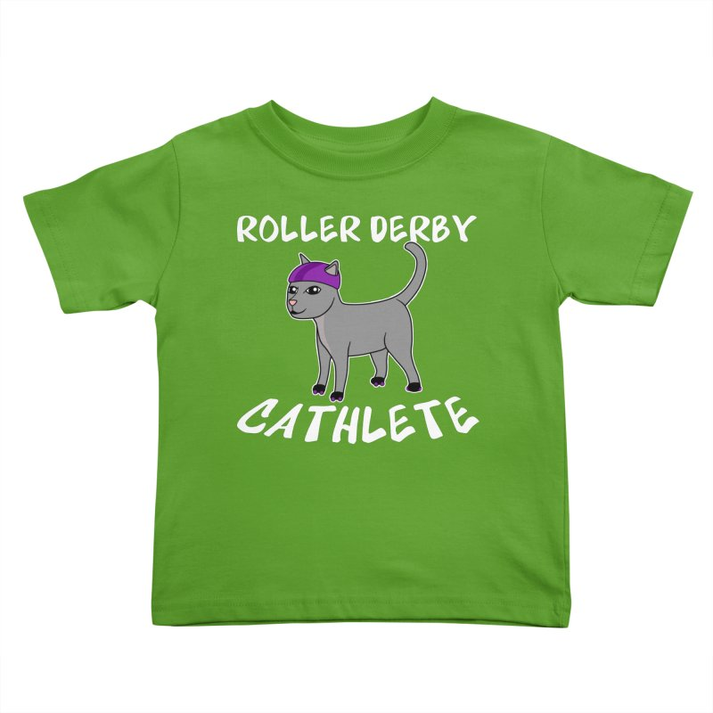 Roller Derby Cathlete Kids Toddler T-Shirt by Power Thru the 4th Whistle Roller Derby Podcast