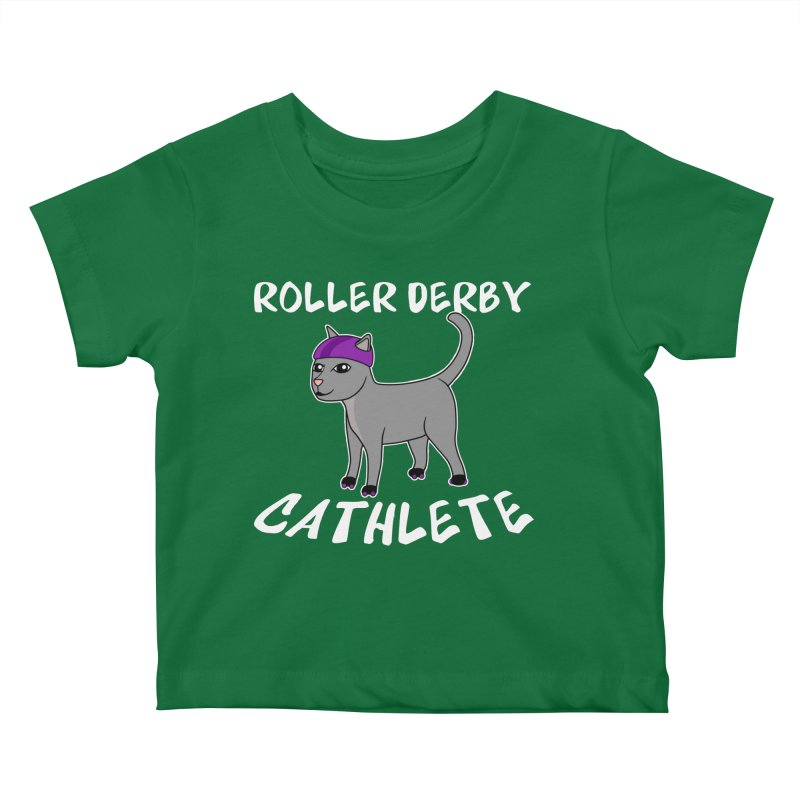Roller Derby Cathlete Kids Baby T-Shirt by Power Thru the 4th Whistle Roller Derby Podcast