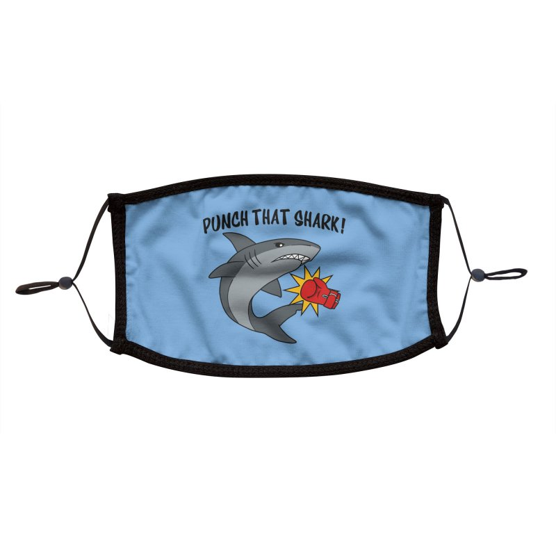 Punch That Shark Accessories Face Mask by Power Thru the 4th Whistle Roller Derby Podcast