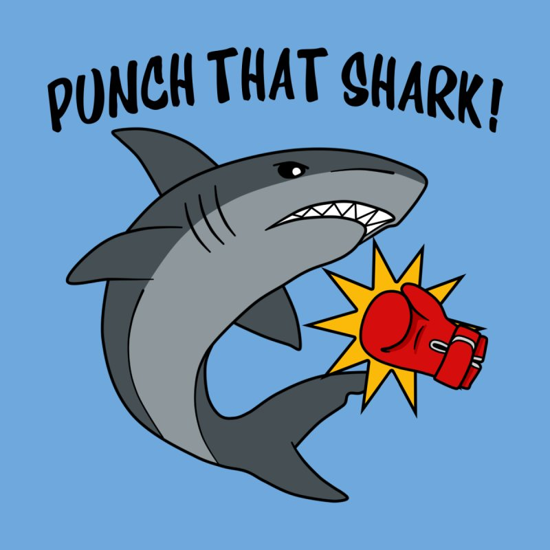 Punch That Shark Women's V-Neck by Power Thru the 4th Whistle Roller Derby Podcast