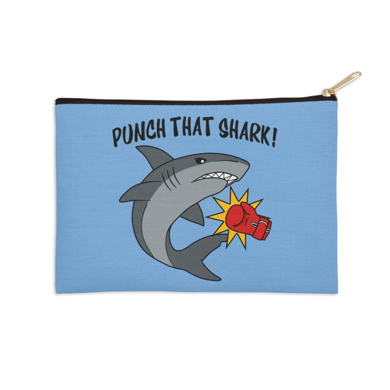 Punch That Shark Accessories Zip Pouch by Power Thru the 4th Whistle Roller Derby Podcast