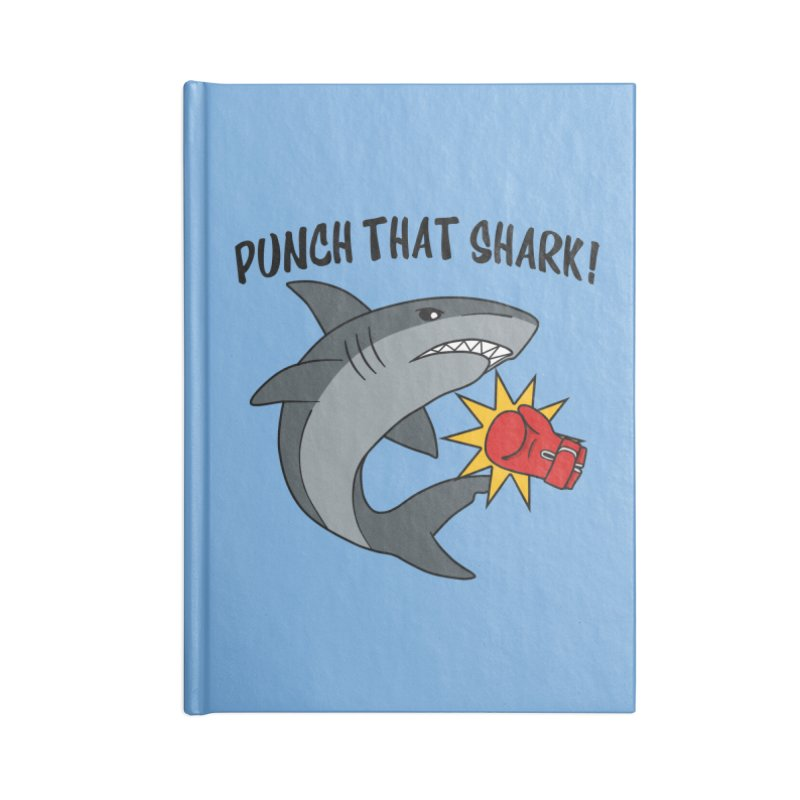 Punch That Shark Accessories Notebook by Power Thru the 4th Whistle Roller Derby Podcast