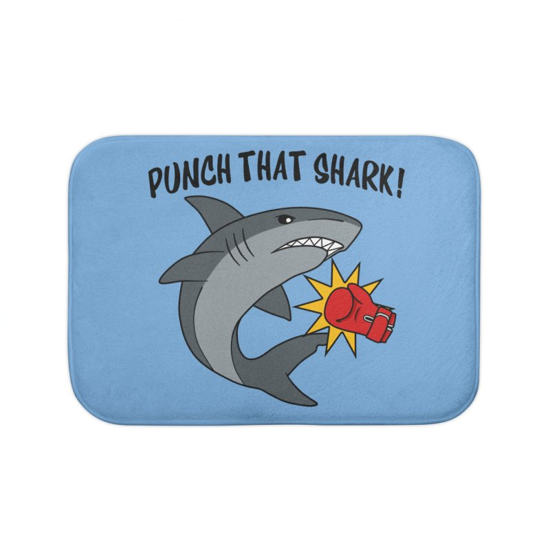 Punch That Shark Home Bath Mat by Power Thru the 4th Whistle Roller Derby Podcast