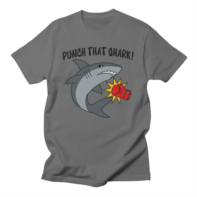 Punch That Shark Men's T-Shirt by Power Thru the 4th Whistle Roller Derby Podcast