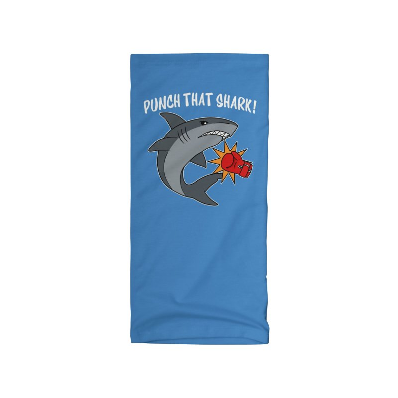 Punch That Shark Accessories Neck Gaiter by Power Thru the 4th Whistle Roller Derby Podcast
