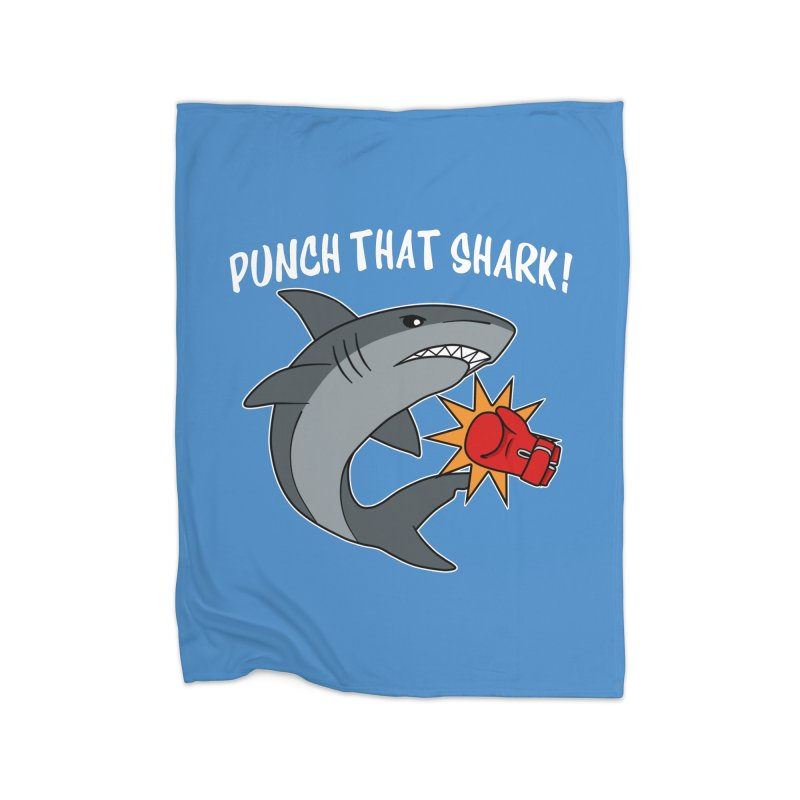 Punch That Shark Home Blanket by Power Thru the 4th Whistle Roller Derby Podcast