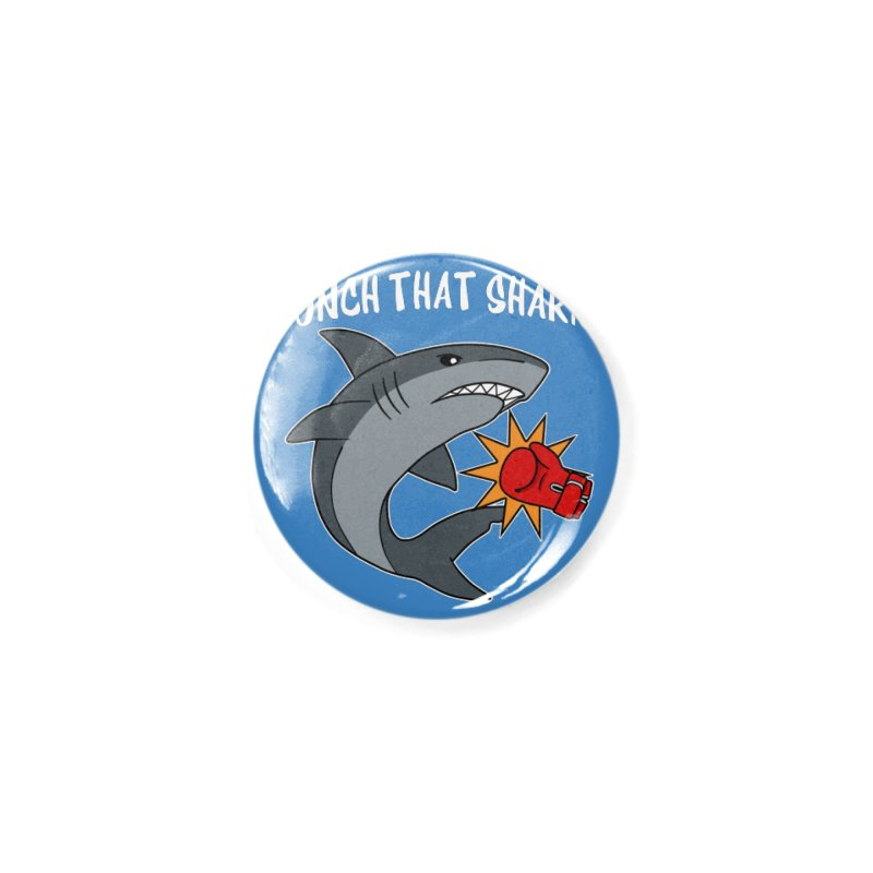 Punch That Shark Accessories Button by Power Thru the 4th Whistle Roller Derby Podcast