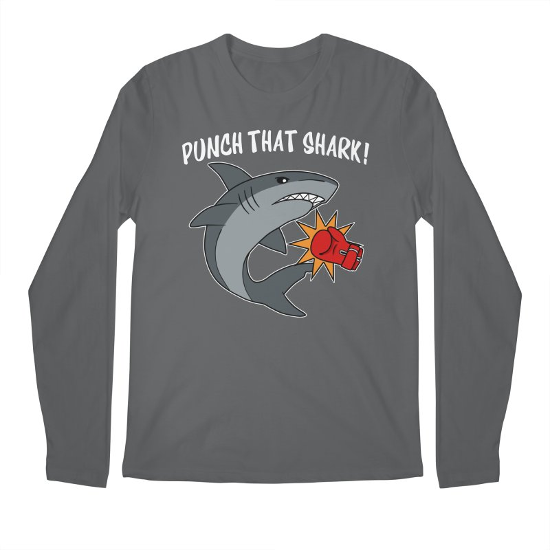 Punch That Shark Men's Longsleeve T-Shirt by Power Thru the 4th Whistle Roller Derby Podcast