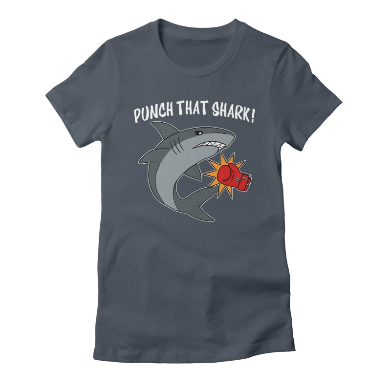 Punch That Shark Women's T-Shirt by Power Thru the 4th Whistle Roller Derby Podcast