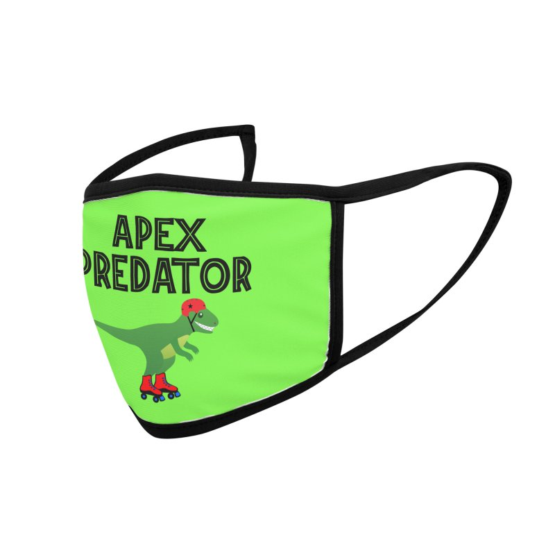 Apex Predator T-Rex Roller Derby Jammer Accessories Face Mask by Power Thru the 4th Whistle Roller Derby Podcast