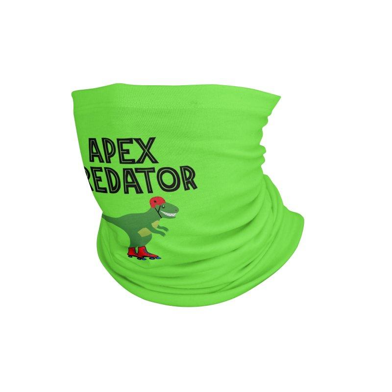 Apex Predator T-Rex Roller Derby Jammer Accessories Neck Gaiter by Power Thru the 4th Whistle Roller Derby Podcast