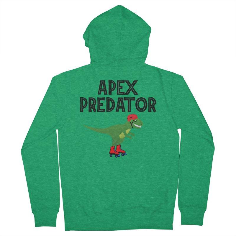 Apex Predator T-Rex Roller Derby Jammer Men's Zip-Up Hoody by Power Thru the 4th Whistle Roller Derby Podcast