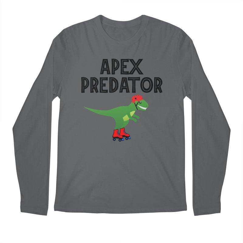 Apex Predator T-Rex Roller Derby Jammer Men's Longsleeve T-Shirt by Power Thru the 4th Whistle Roller Derby Podcast