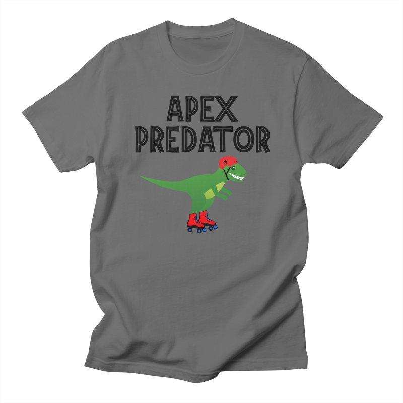 Apex Predator T-Rex Roller Derby Jammer Men's T-Shirt by Power Thru the 4th Whistle Roller Derby Podcast