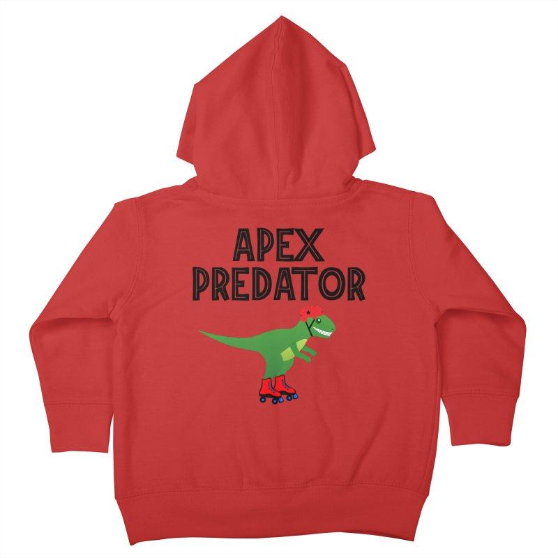 Apex Predator T-Rex Roller Derby Jammer Kids Toddler Zip-Up Hoody by Power Thru the 4th Whistle Roller Derby Podcast
