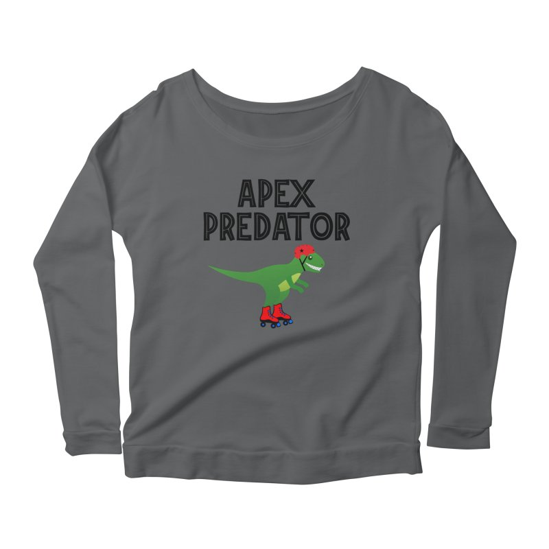 Apex Predator T-Rex Roller Derby Jammer Women's Longsleeve T-Shirt by Power Thru the 4th Whistle Roller Derby Podcast