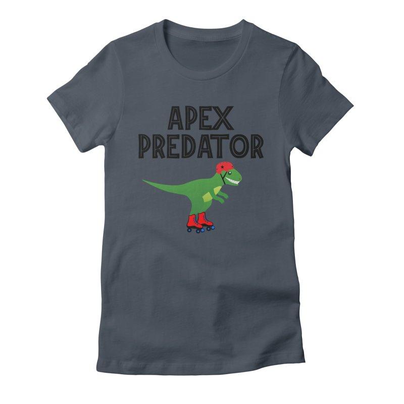 Apex Predator T-Rex Roller Derby Jammer Women's T-Shirt by Power Thru the 4th Whistle Roller Derby Podcast