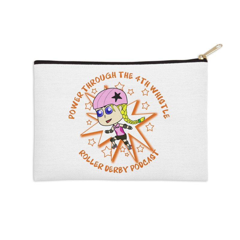 Power Through the 4th Whistle Roller Derby Podcast Accessories Zip Pouch by Power Thru the 4th Whistle Roller Derby Podcast