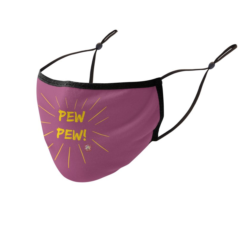 PEW PEW! Accessories Face Mask by Power Thru the 4th Whistle Roller Derby Podcast