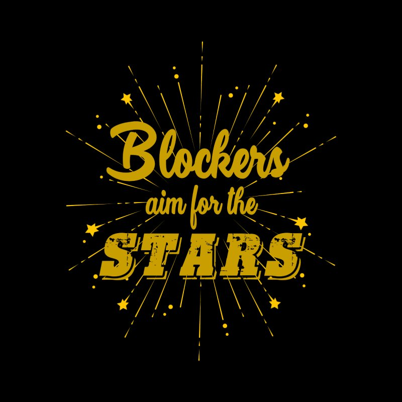 Blockers Aim For the Stars Roller Derby Women's Longsleeve T-Shirt by Power Thru the 4th Whistle Roller Derby Podcast