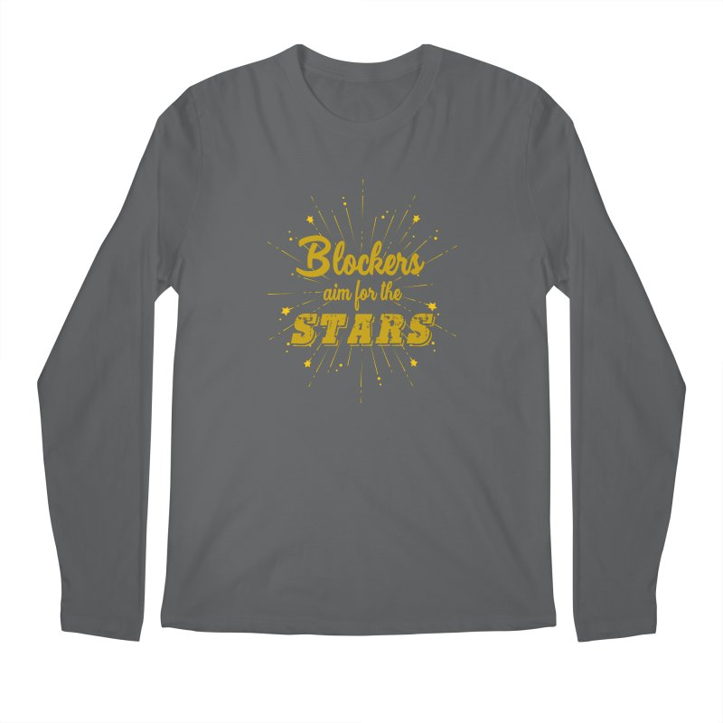 Blockers Aim For the Stars Roller Derby Men's Longsleeve T-Shirt by Power Thru the 4th Whistle Roller Derby Podcast