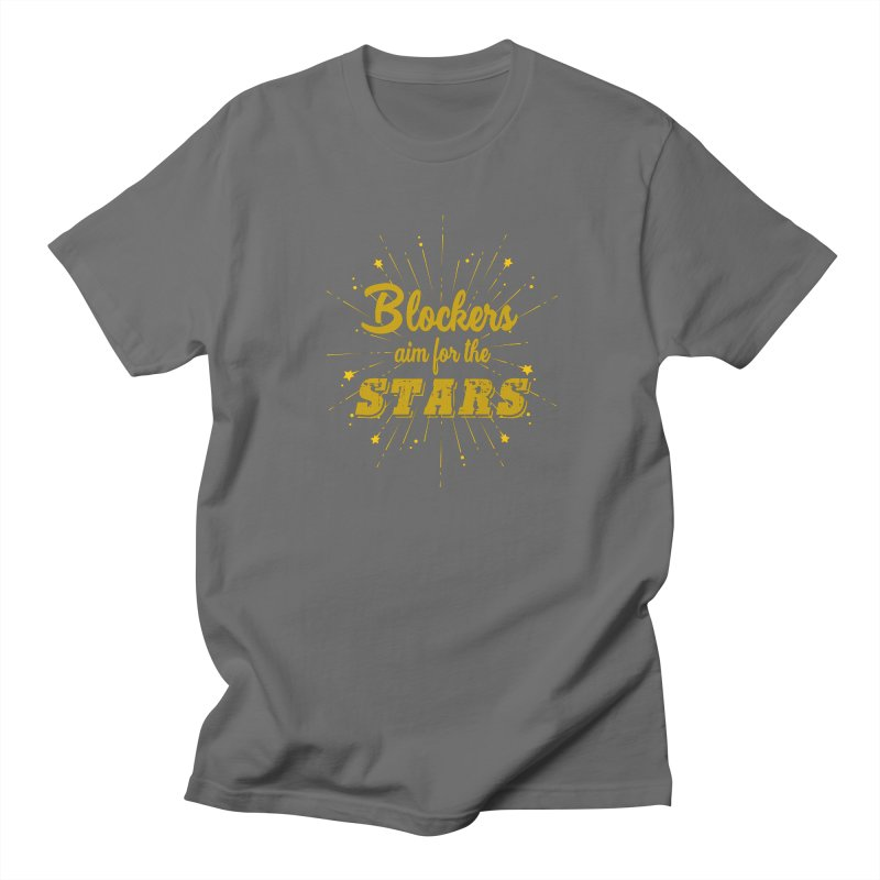 Blockers Aim For the Stars Roller Derby Men's T-Shirt by Power Thru the 4th Whistle Roller Derby Podcast