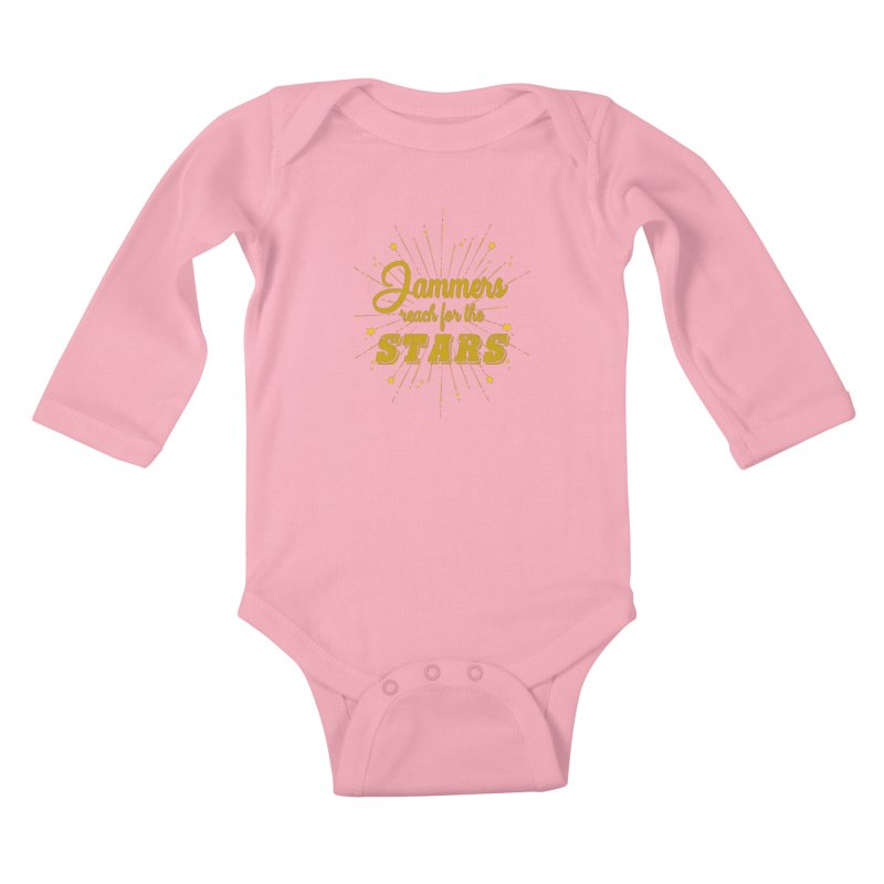 Jammers Reach For the Stars Roller Derby Kids Baby Longsleeve Bodysuit by Power Thru the 4th Whistle Roller Derby Podcast