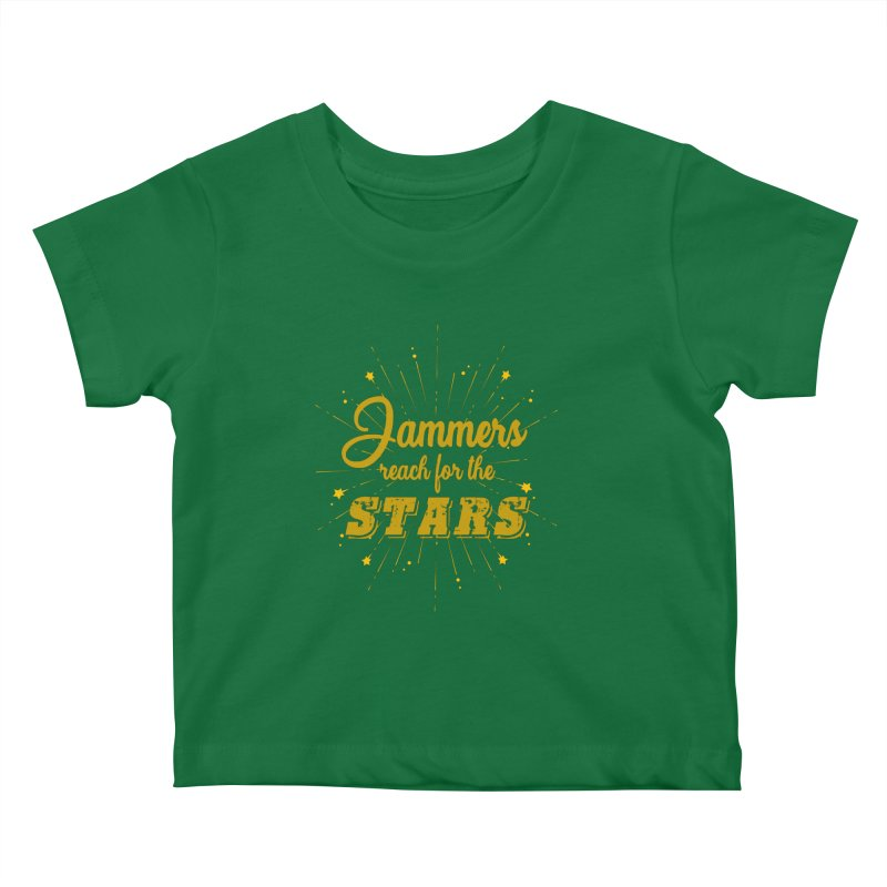 Jammers Reach For the Stars Roller Derby Kids Baby T-Shirt by Power Thru the 4th Whistle Roller Derby Podcast