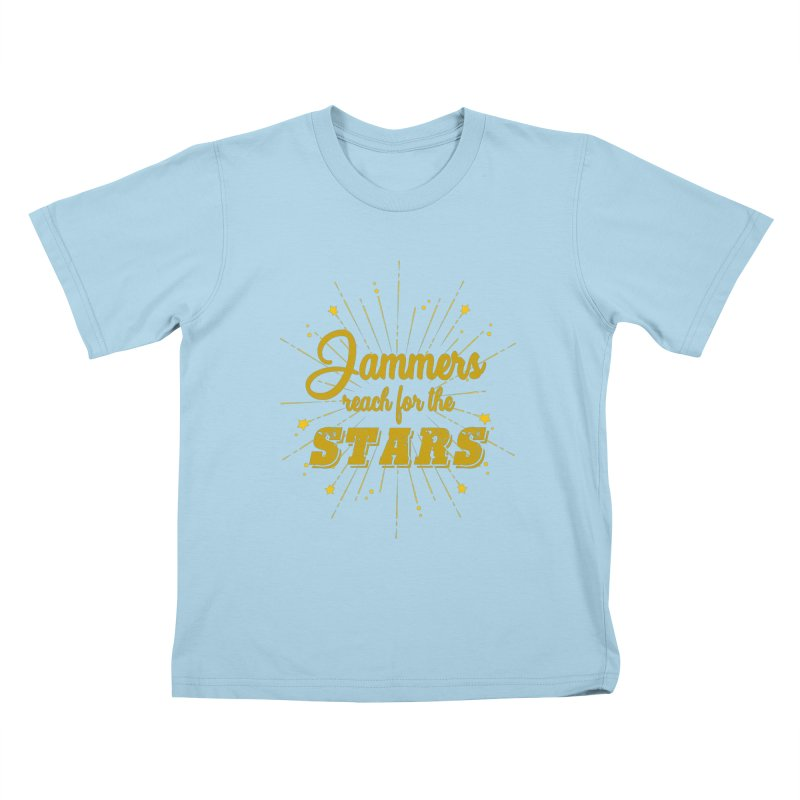 Jammers Reach For the Stars Roller Derby Kids T-Shirt by Power Thru the 4th Whistle Roller Derby Podcast