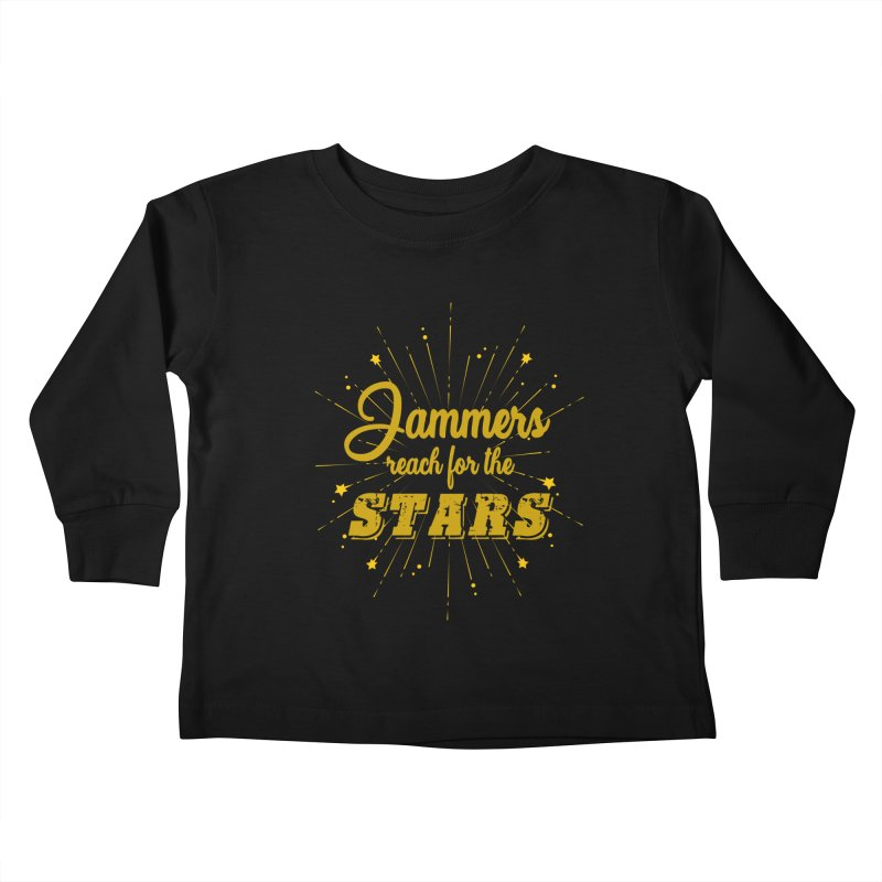 Jammers Reach For the Stars Roller Derby Kids Toddler Longsleeve T-Shirt by Power Thru the 4th Whistle Roller Derby Podcast