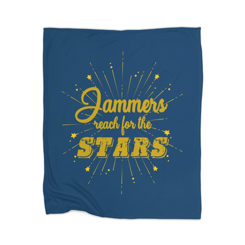 Jammers Reach For the Stars Roller Derby Home Blanket by Power Thru the 4th Whistle Roller Derby Podcast