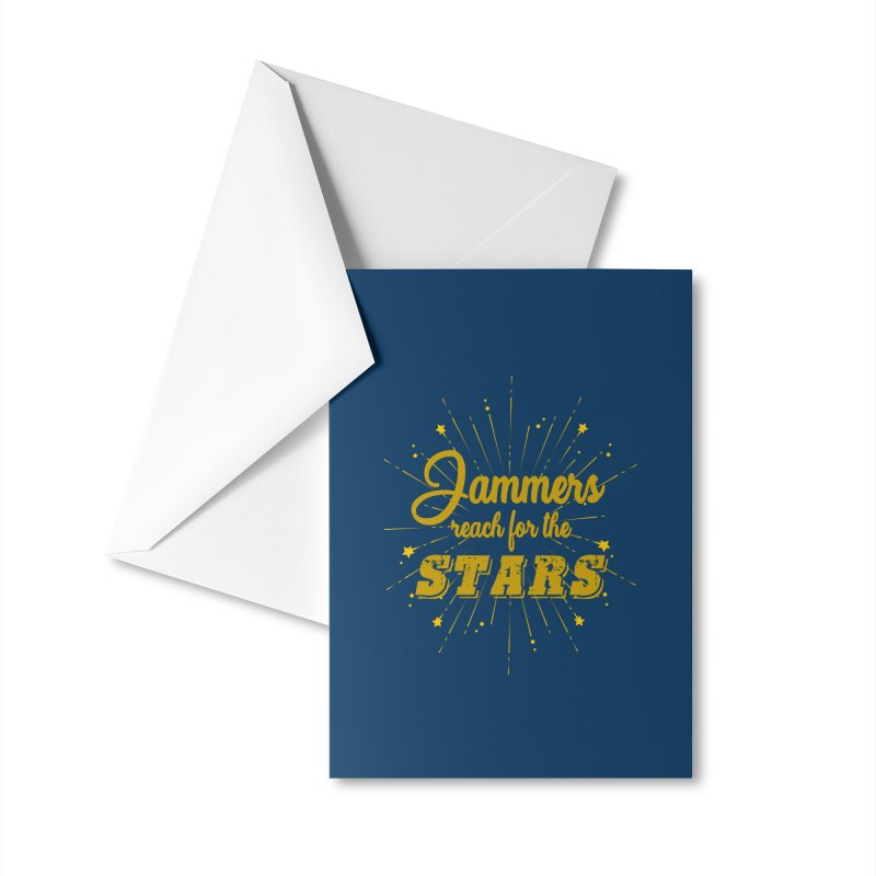 Jammers Reach For the Stars Roller Derby Accessories Greeting Card by Power Thru the 4th Whistle Roller Derby Podcast