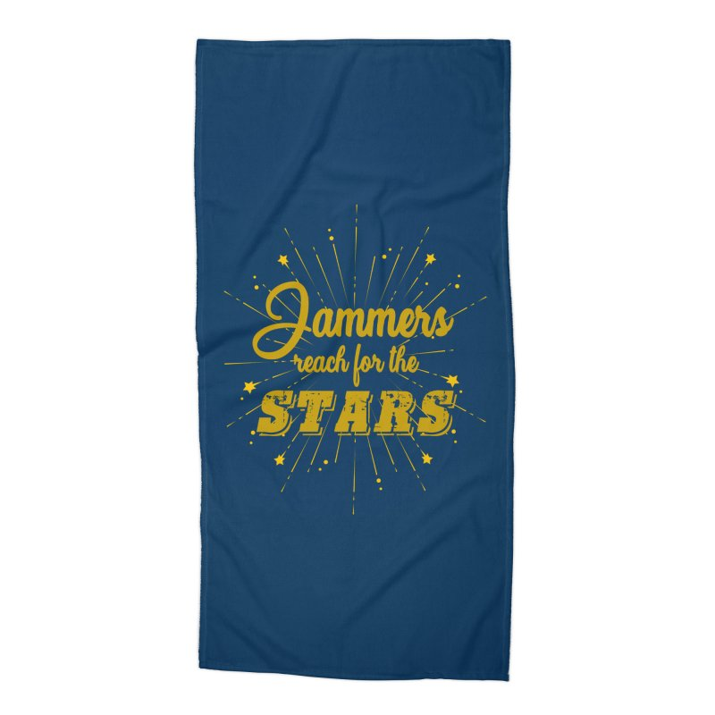 Jammers Reach For the Stars Roller Derby Accessories Beach Towel by Power Thru the 4th Whistle Roller Derby Podcast