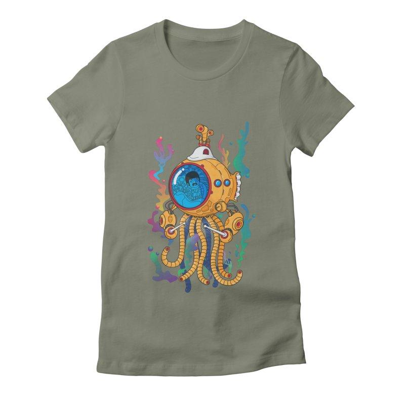 Octopus's Garden Women's Fitted T-Shirt by Pepe Rodríguez