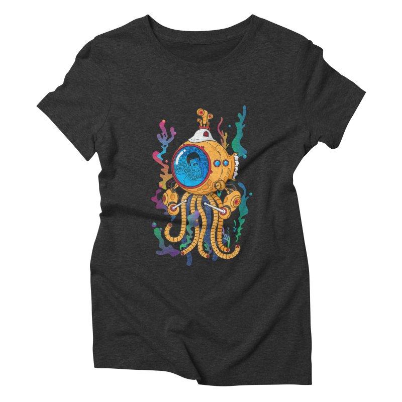 Octopus's Garden Women's Triblend T-Shirt by Pepe Rodríguez