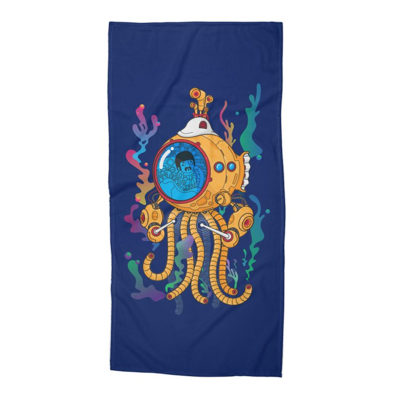 Octopus's Garden Accessories Beach Towel by Pepe Rodríguez