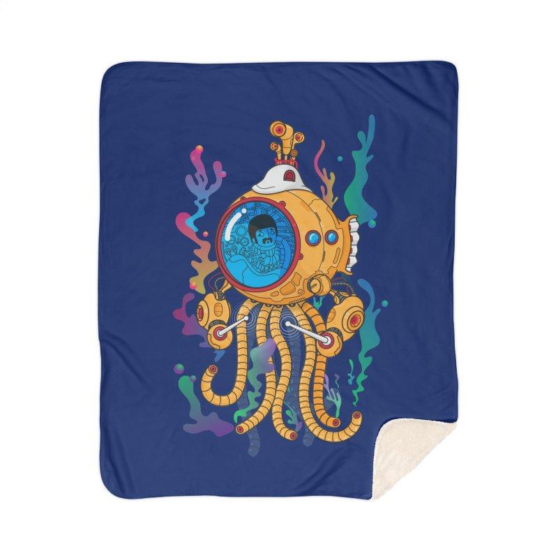 Octopus's Garden Home Sherpa Blanket Blanket by Pepe Rodríguez