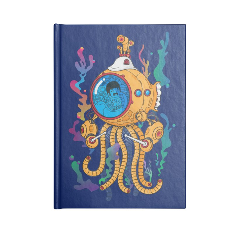 Octopus's Garden Accessories Lined Journal Notebook by Pepe Rodríguez