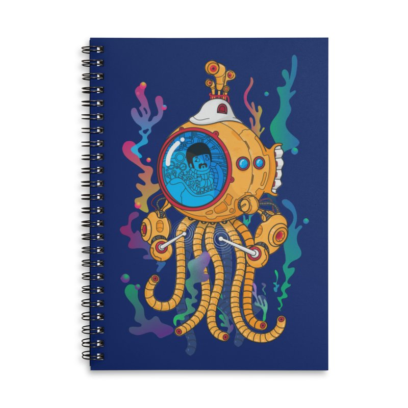Octopus's Garden Accessories Lined Spiral Notebook by Pepe Rodríguez