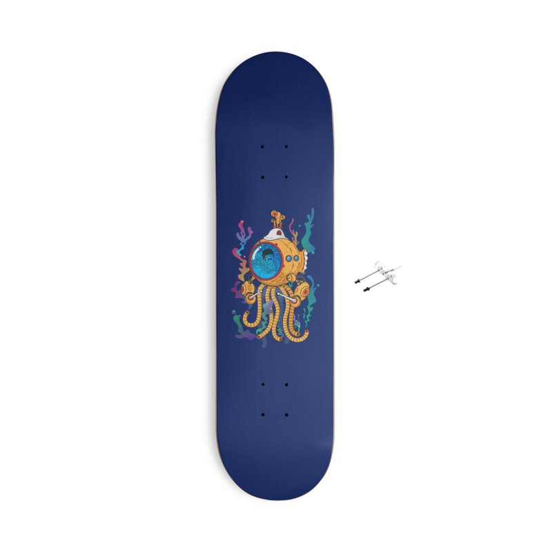 Octopus's Garden Accessories With Hanging Hardware Skateboard by Pepe Rodríguez