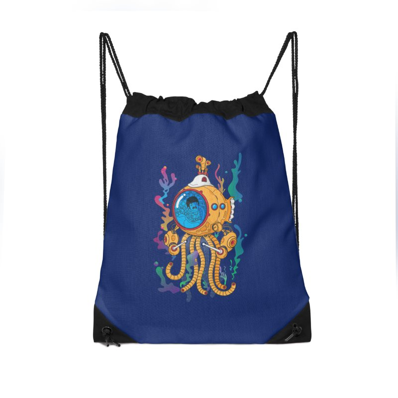 Octopus's Garden Accessories Drawstring Bag Bag by Pepe Rodríguez