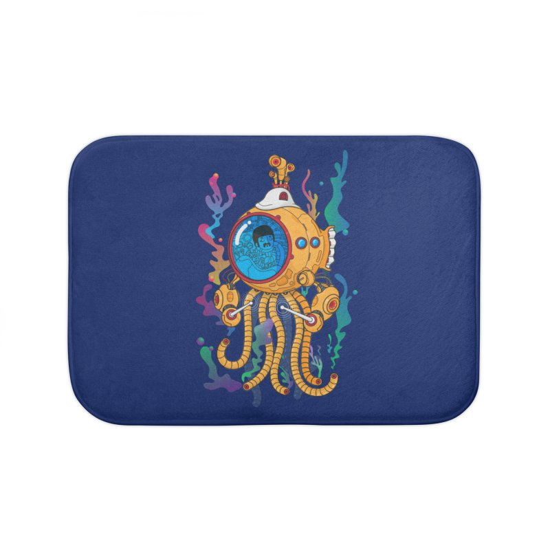 Octopus's Garden Home Bath Mat by Pepe Rodríguez