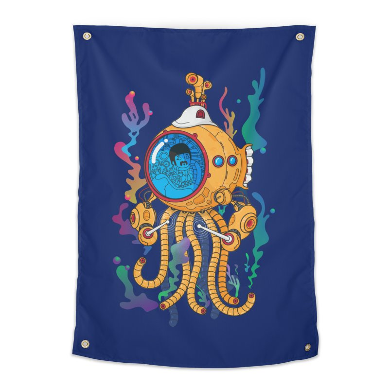 Octopus's Garden Home Tapestry by Pepe Rodríguez