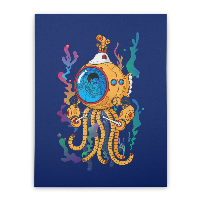 Octopus's Garden Home Stretched Canvas by Pepe Rodríguez